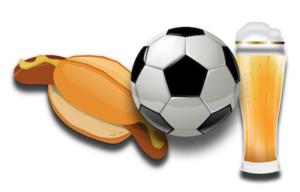 Fußball, Bratwurst, Bier